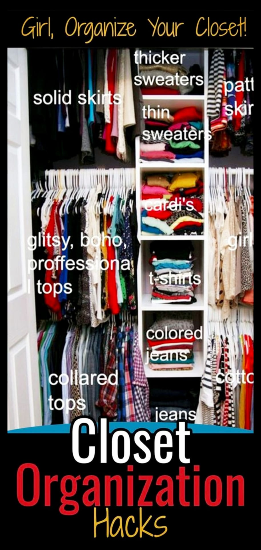 Declutter clothes checklist and life changing closet organization tips to declutter and organize your closet
