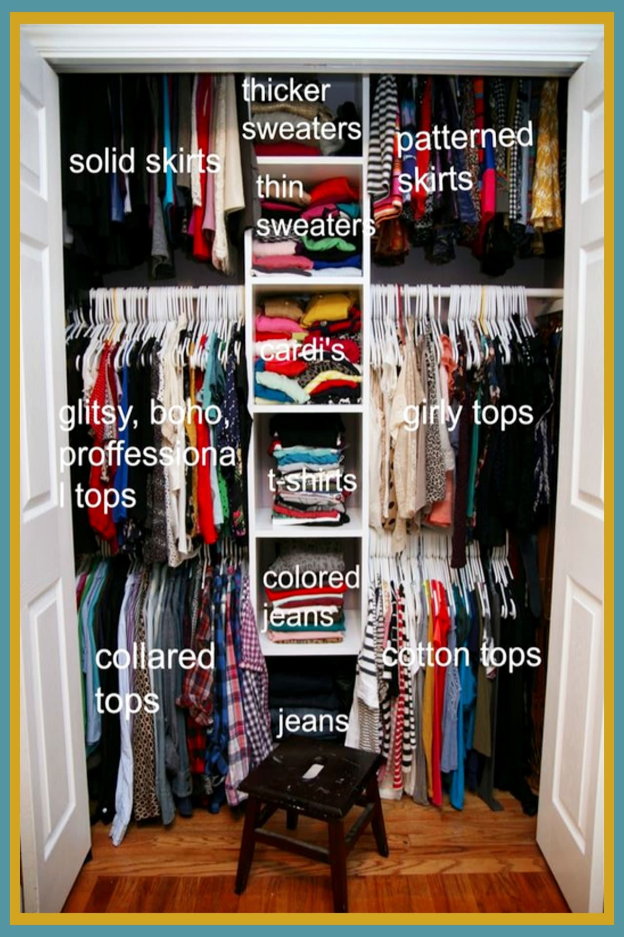Closet organization on a budget - how to organize your closet if you're on a budget - declutter and organize your closet clothes