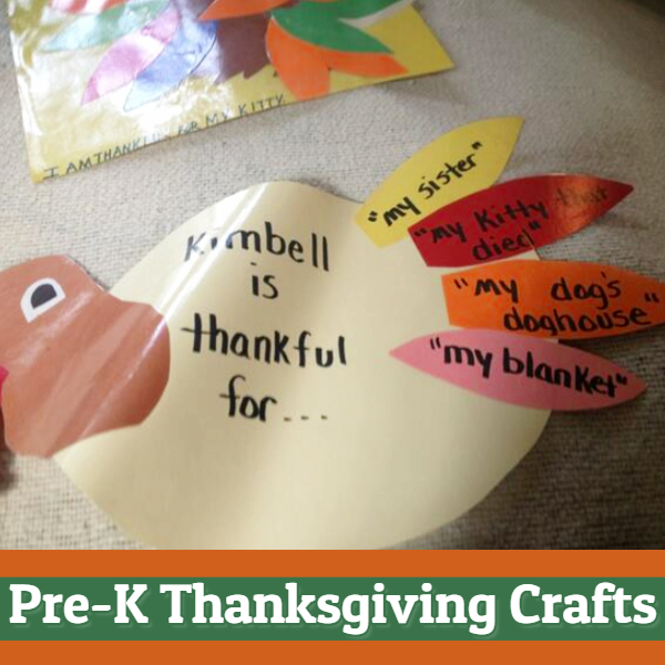 Pre-K Thanksgiving Crafts - easy pre k thanksgiving crafts (great for preschool too!)