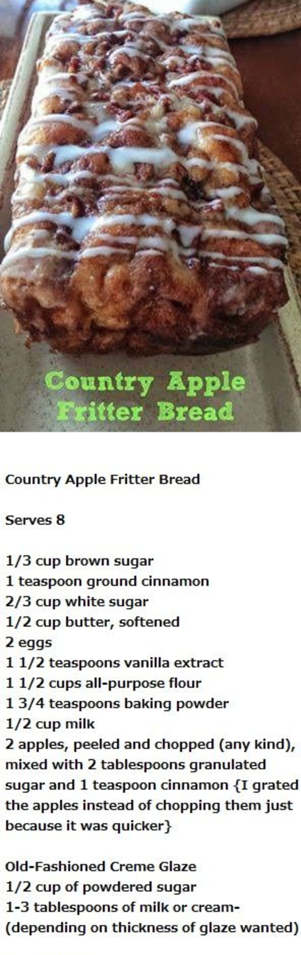UNIQUE non-traditional Thanksgiving or Christmas dessert idea - this apple bread is OUTSTANDING and so delicious!  Also makes a great homemade gift or hostess gift and is GREAT when you have company to have out to snack on.