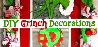 DIY Grinch Decorations and Christmas Ornaments