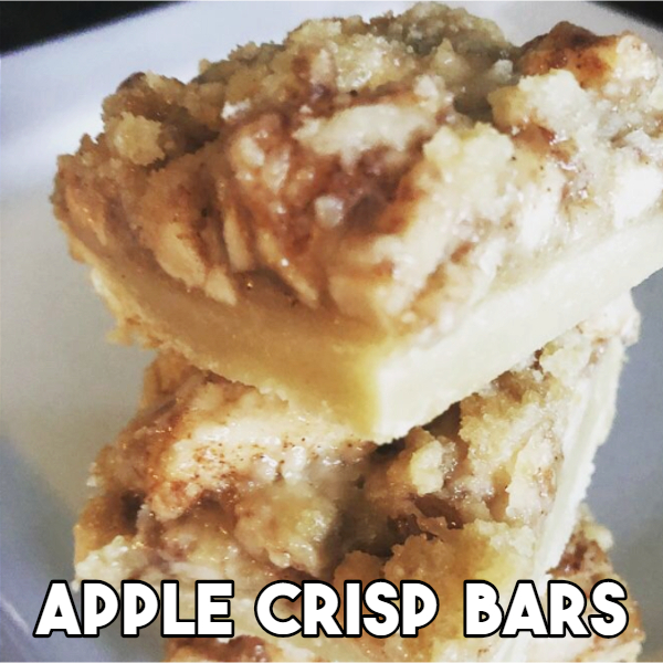 Apple Crisp Cookie Bars - Creative and Easy Christmas Desserts for a Party or for a Crowd