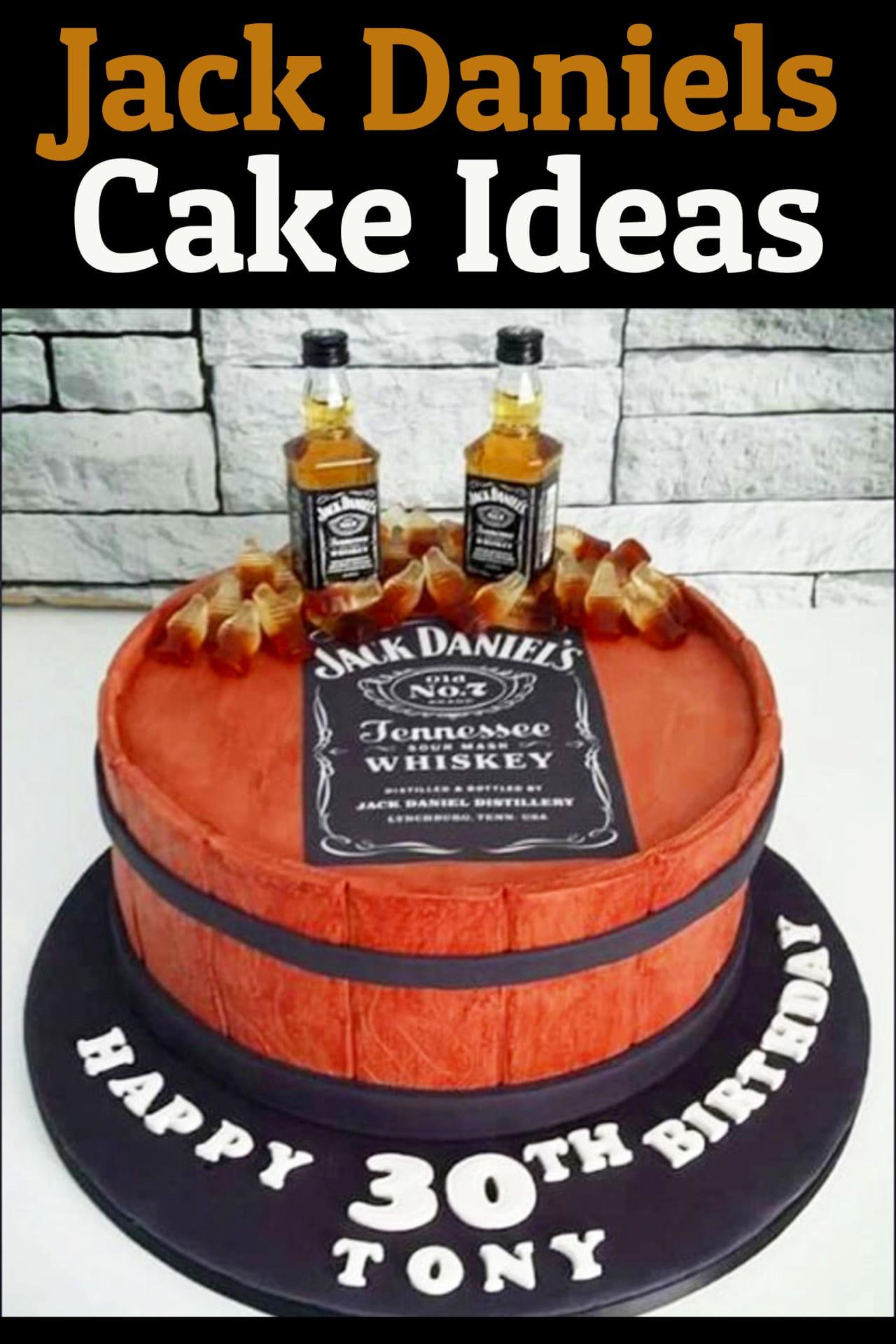 Jack Daniels Cake Ideas - Whiskey Bottle Crafts