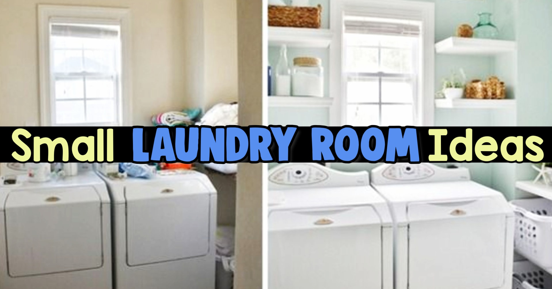 Laundry Room Ideas! Small laundry room ideas and tiny laundry room pictures - simple laundry room design, small space laundry room design and more laundry room ideas on a budget