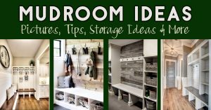 mudroom ideas - DIY mudroom ideas with storage, with shiplap, small mudroom ideas, entryway mudroom ideas and more