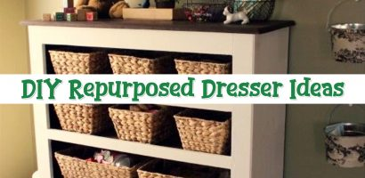 How To Repurpose a Dresser Without Drawers – Easy DIY Repurposed Furniture Makeover Ideas