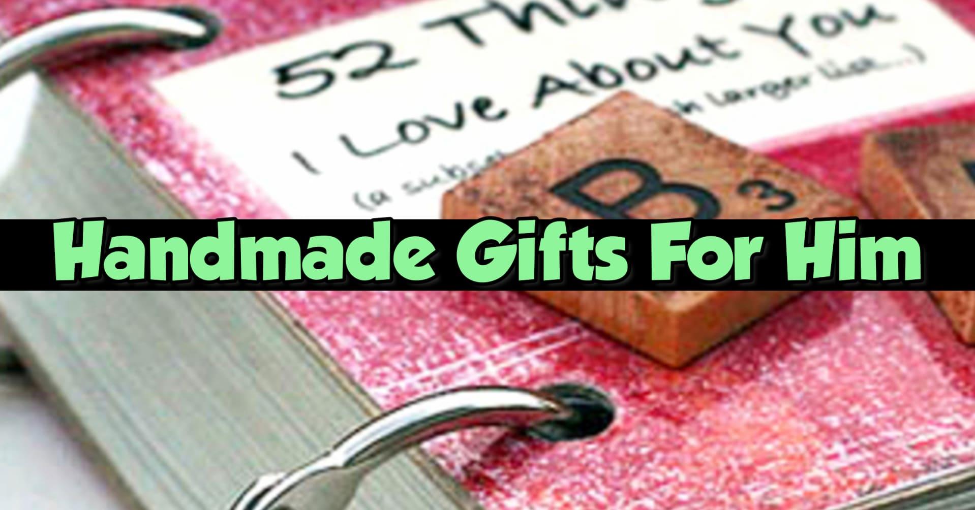easy DIY handmade gifts for him (boyfriend, husband)
