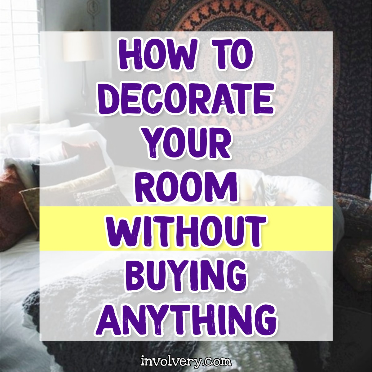 how to decorate your room without buying anything - 30 ways to decorate your room for free