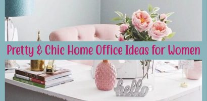 Pretty Home Office Ideas For Women – Beautiful Glam Chic Home Office Inspiration Just For Her