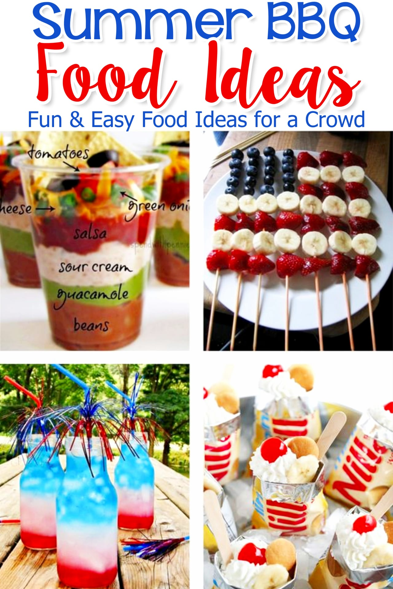 Summer BBQ Party Food Ideas for Entertaining a Crowd! Summer Neighborhood Block Party Food Ideas - simple and easy outdoor summer party food ideas for a crowd