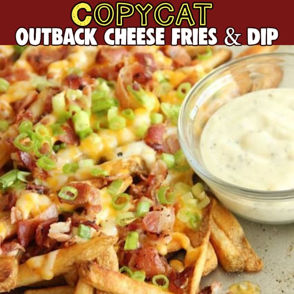 Easy party appetizers for a crowd! Simple and easy party appetizers that are crowdpleasers you can make ahead or last minute on busy days - Outback copycat cheese fries and dip - Make Outback Steakhouse Aussie Cheese Fries and Dip at home
