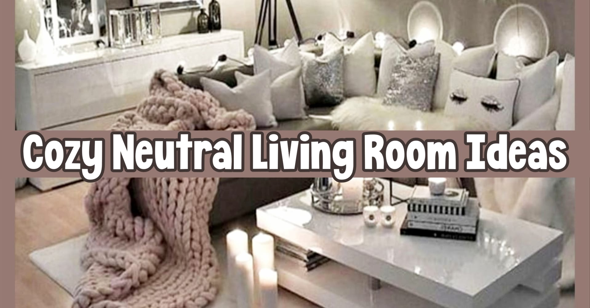 living room ideas - cozy neutral living room decorating ideas - gray earthy living room, den and family room decor ideas on a budget