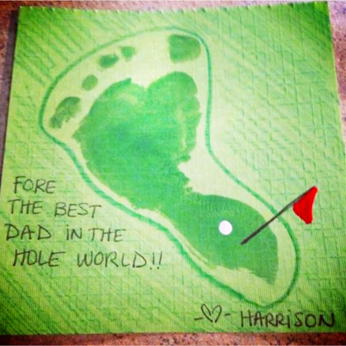 Fathers Day golf craft gift for dad from kids