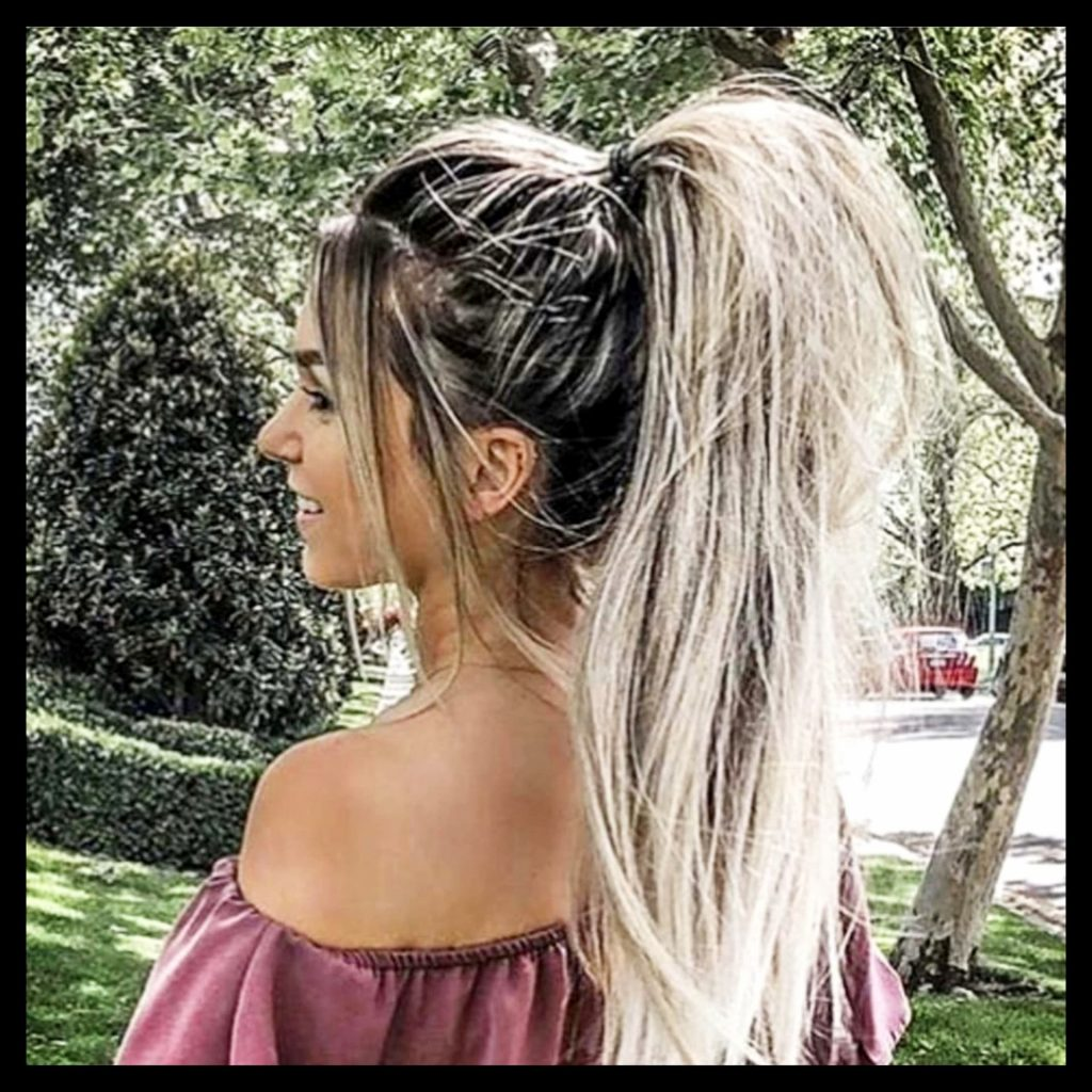 Lazy hairstyles we love - these easy high poofy ponytails hairstyles are so simple to do - see the hairstyle tutorial video