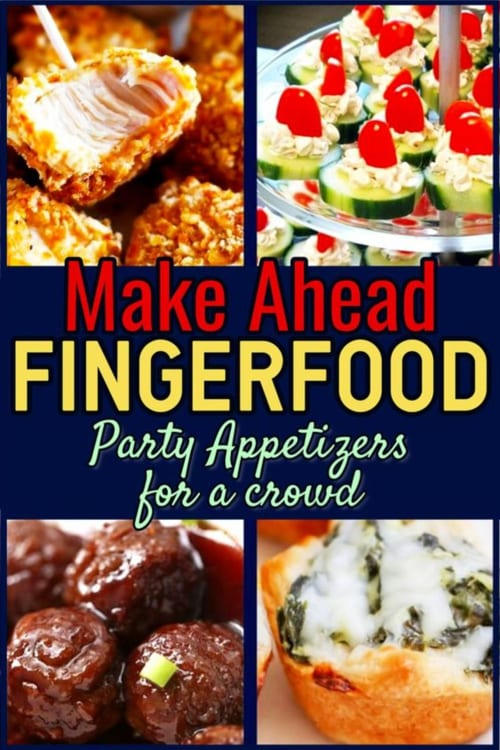 Fingerfood Party Appetizers-Make Ahead Appetizers for a Crowd You Can Make the Night Before ... Simple appetizer recipes for entertaining or parties - awesome dips, slow cooker appetizer recipes and more appetizers you can make ahead of time - in advance or the night before. Simple fingerfood ideas snacks and more!