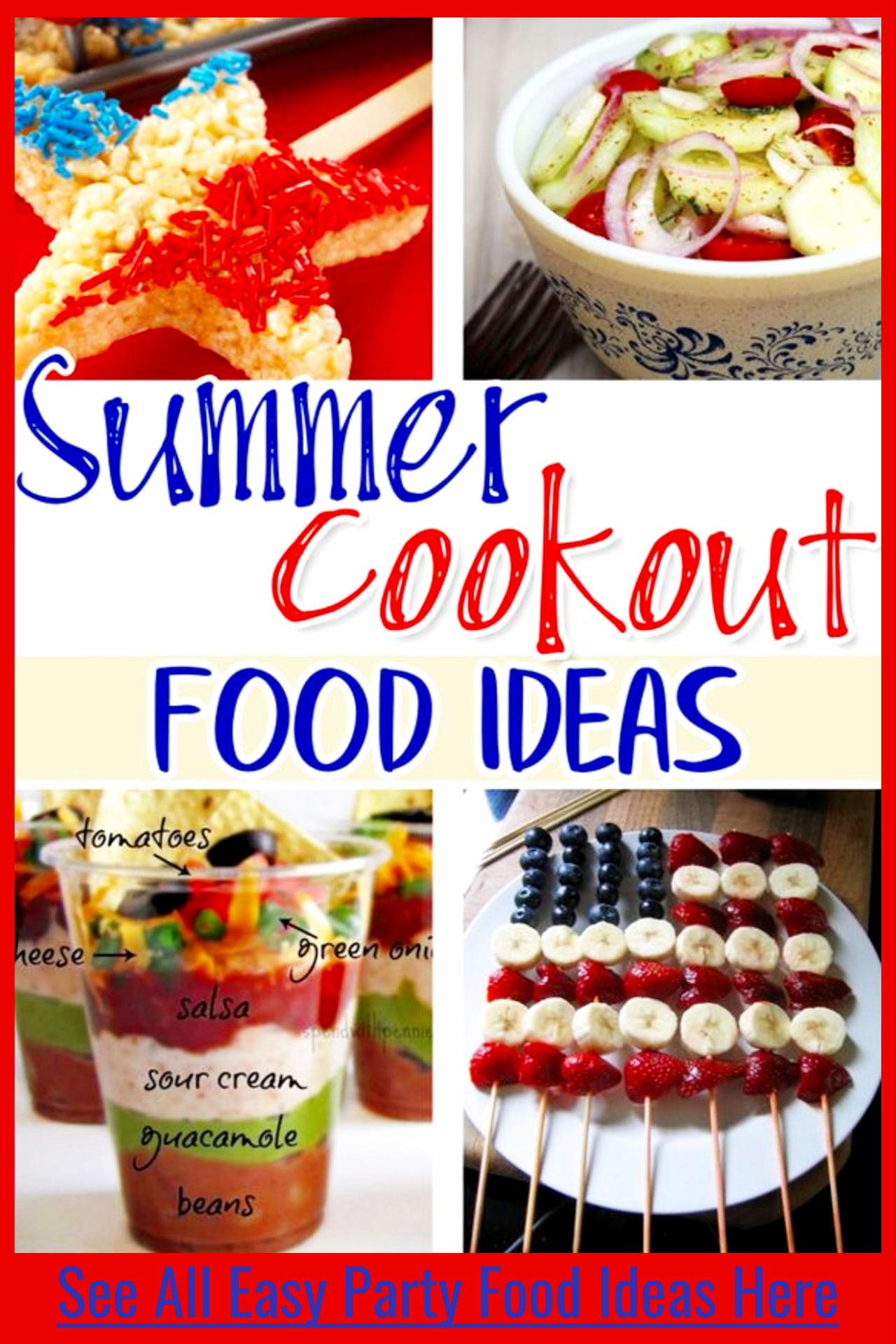 4th of July party food ideas for a crowd - easy backyard cookout food ideas for a 4th of July party or any outdoor summer party