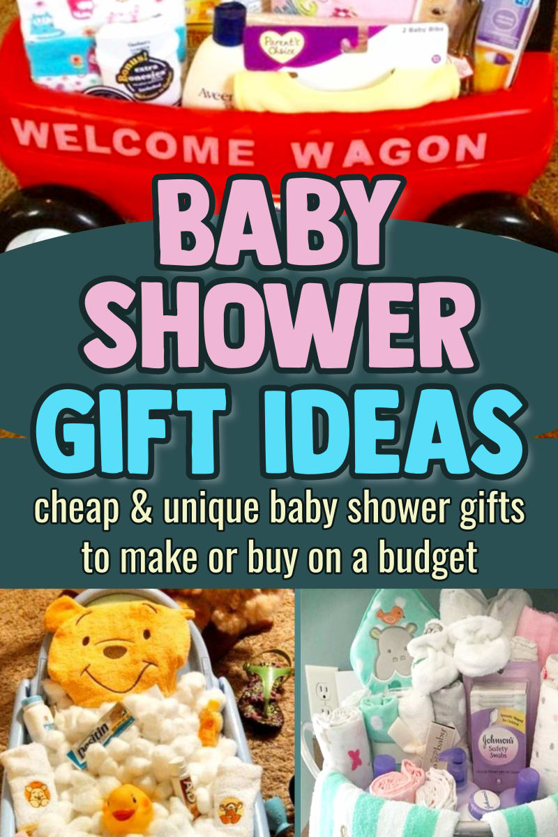 Baby shower gift ideas-cheap baby shower gift ideas and gift basket ideas for baby boys, girls, gender neutral and gender reveal showers - cute and easy baby shower gift baskets too