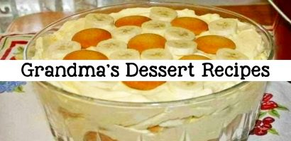 Grandmas Desserts: Homemade Potluck and Family Reunion Dessert Ideas That Will Even Please Your Church Crowd