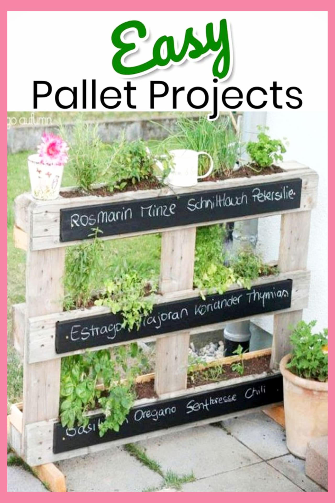 Pallet Projects - easy DIY outdoor pallet projects for your backyard garden