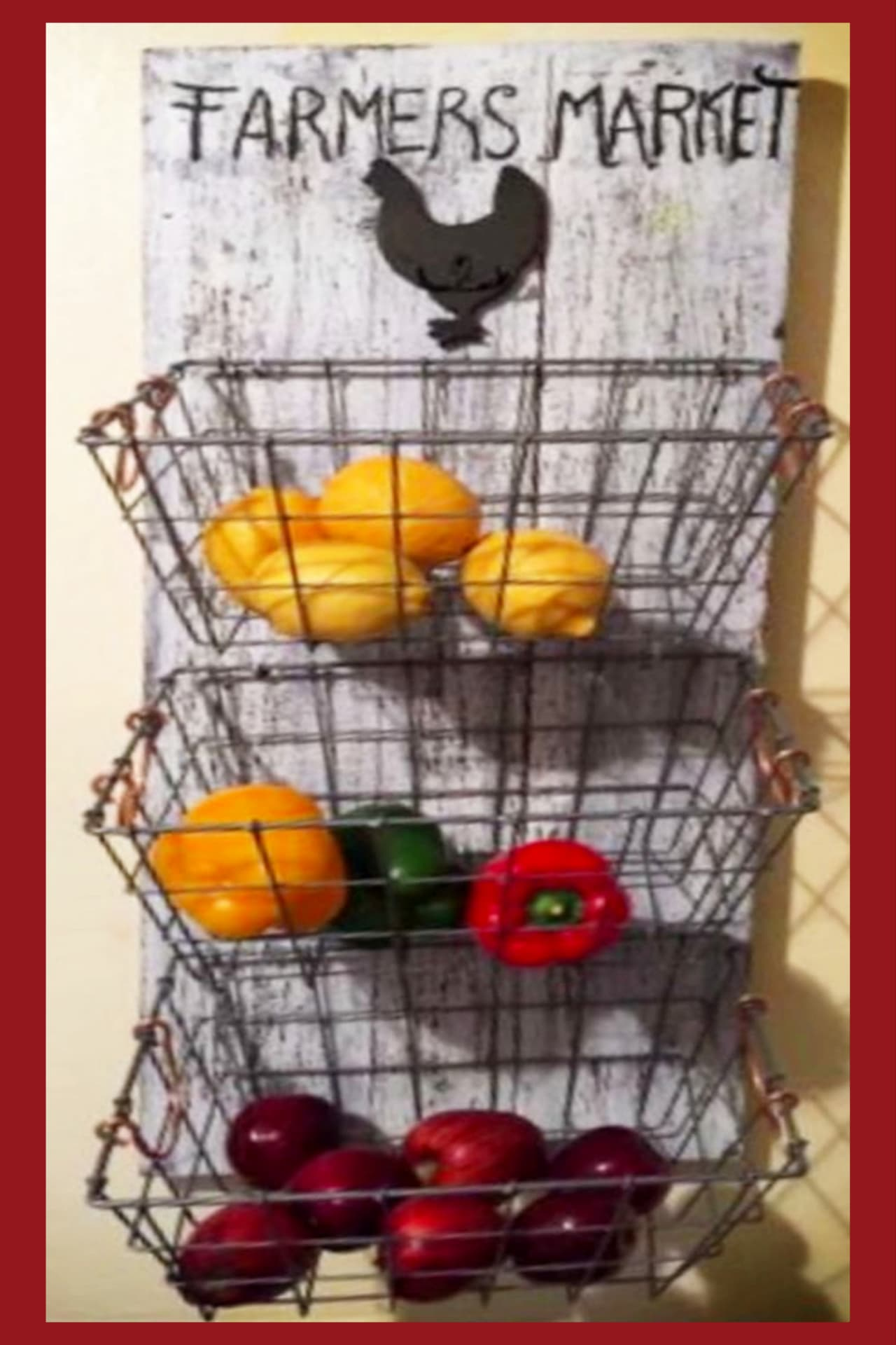 Pallet projects for your kitchen (to make or to sell) - easy DIY farmhouse kitchen hanging wall basket made from old pallet wood