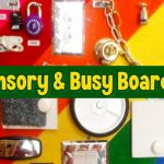 Sensory Busy Board ideas - DIY activity boards for toddlers