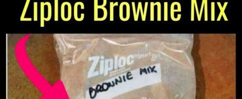 Ziploc Brownie Recipe – Super Simple Homemade Brownie Mix in a Bag