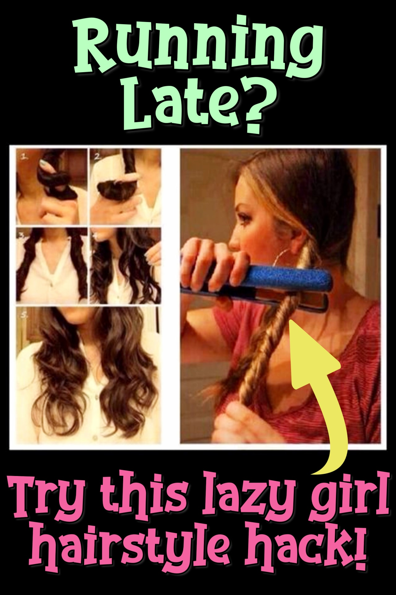 Lazy Hairstyle Hacks!  Hair Tricks and Tips for Running Late Lazy Girl Hairstyles in Minutes - lazy hairstyles tutorials for easy hairstyles in a rush