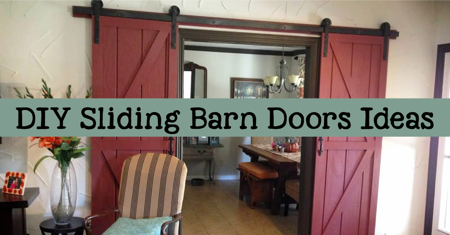 Sliding Barn Doors - DIY interior sliding barn doors and double sliding barn doors pictures in houses. Elegant, rustic and farmhouse style double barn doors for bathrooms, bedrooms, kitchens, living rooms, master bath, basements, closets, mud rooms, pantries and other small spaces. Sliding barn doors DIY how to build barn doors projects and sliding barn doors for sale - also sliding barn door installation tips