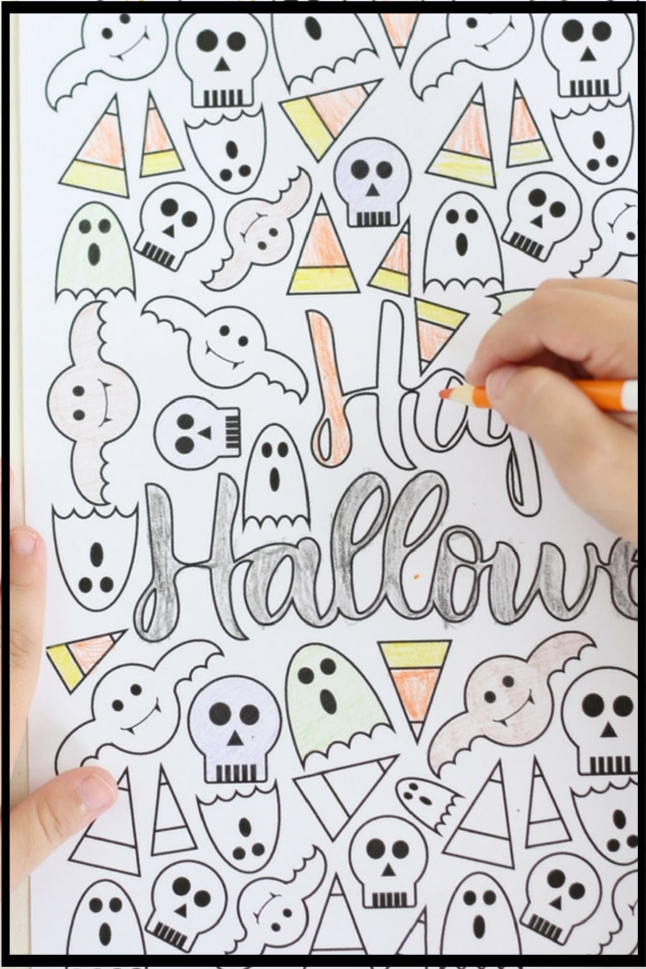 Halloween Printables!  Free Halloween coloring page printables for kids AND for adults