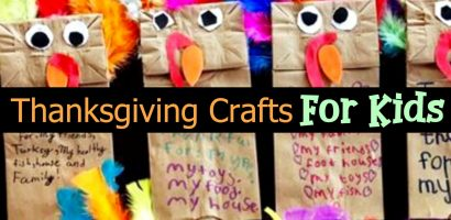Thanksgiving Arts and Crafts Projects for Kids (fun ideas for Toddlers for Preschool and Pre-K Kids To Make)