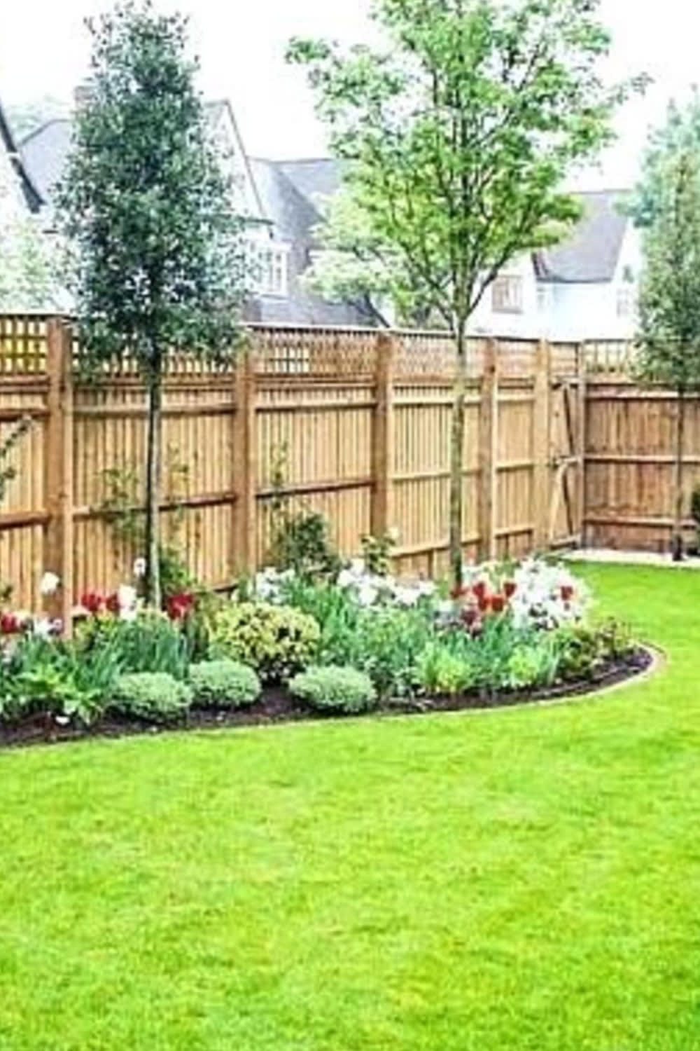 backyard fence ideas and backyard landscaping ideas around fence