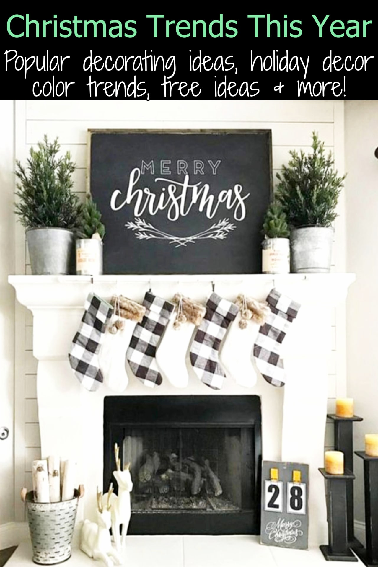Christmas Trends for 2019 - 2020 Holiday Season - Popular Christmas color schemes, Christmas home decor, decorating ideas inspiration and more Christmas trends for this year
