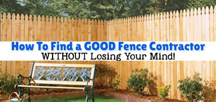 Fence Contractors – How To Hire a Local Fence Installer Advice From a Fellow Homeowner