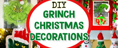 DIY Grinch Decorations, Christmas Ornaments, Outdoor Decor & Grinch Christmas Tree Ideas For a Grinch-Themed Christmas