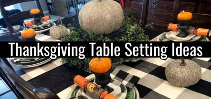{Thanksgiving Table Settings} • DIY Ideas for Your Thanksgiving Table