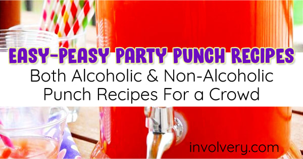party punch recipes alcoholic and non-alcoholic for a crowd