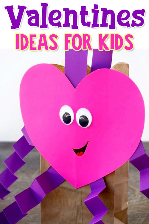 Homemade Valentines Ideas For Kids -  Cute and easy DIY Valentines Day cards for kids to make, Valentine Day crafts for toddlers, preschoolers, grade school etc for class Valentines Day party and more