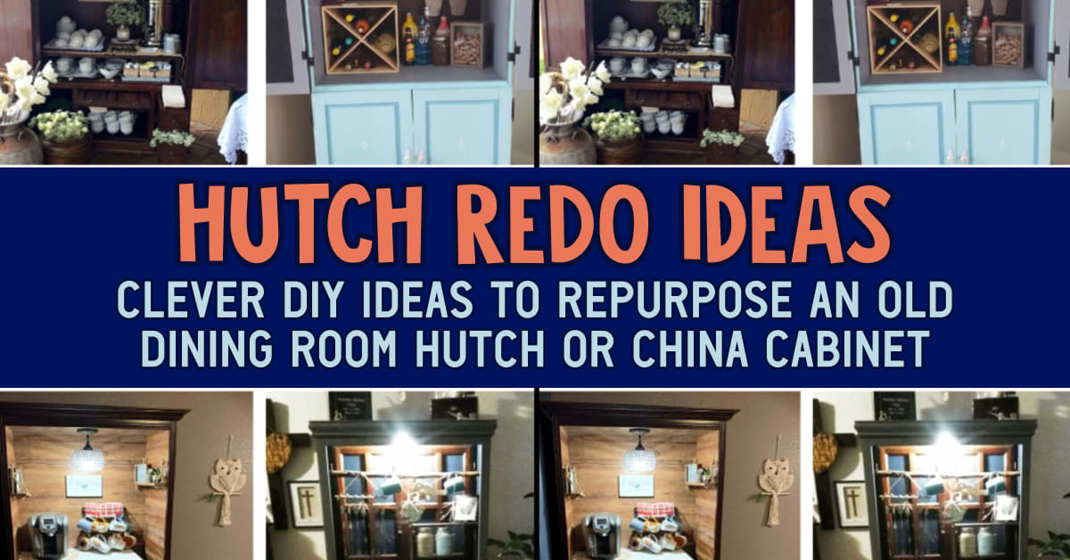 Hutch Redo Ideas - Other Uses For Dining Room Hutch and Refurbished China Cabinet Ideas For Converting a China Cabinet