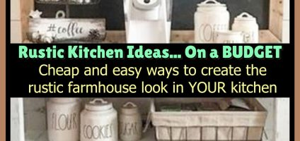 Farmhouse Kitchen Ideas and PICTURES For a Rustic Country Farmhouse Kitchen on a Budget