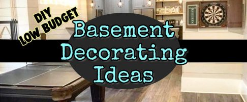 Gorgeous & CHEAP Basement Decorating -Remodeling Ideas on a Budget