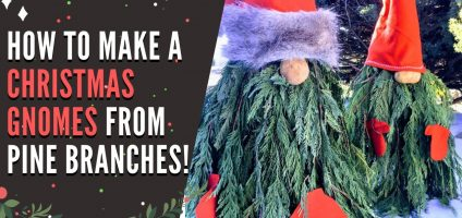 DIY Christmas Gnomes – How To Make Gnome Christmas Trees For Decorating Outdoors Or In – Video