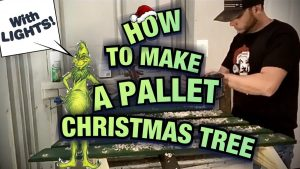 DIY Pallet Christmas Tree Ideas - How To Make a Wood Christmas Tree Decoration Out Of Pallet Wood (with lights) Step by Step Video Tutorial