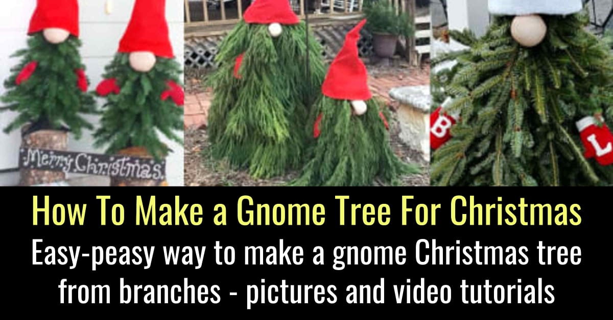 Gnome Trees-DIY Gnome Christmas Tree For Outdoors / Outside