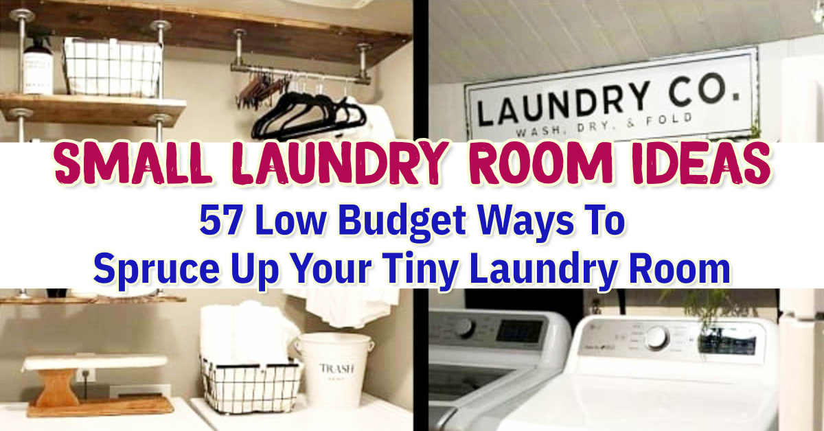 Small laundry room makeover on a budget - low budget small laundry room ideas