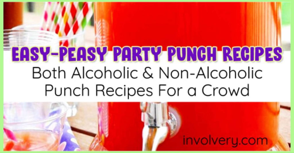 best party punch recipes alcoholic non-alcoholic party punch for a crowd