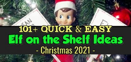 101+ Elf on the Shelf Ideas for Christmas  – NEW Quick and EASY Ideas for 2021