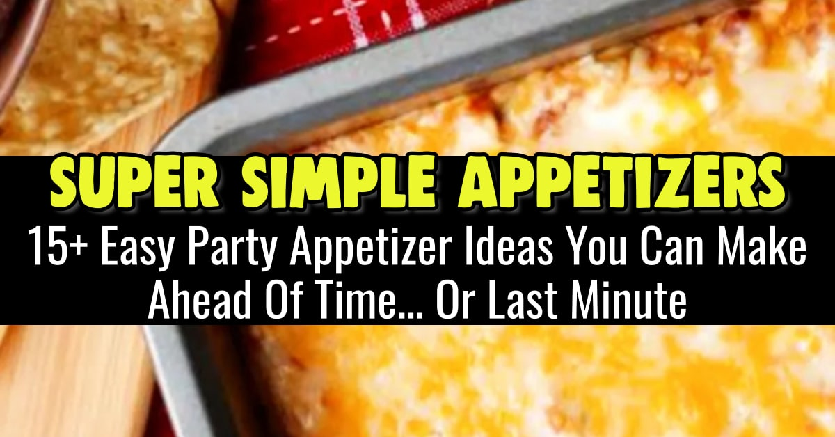 large party appetizers easy