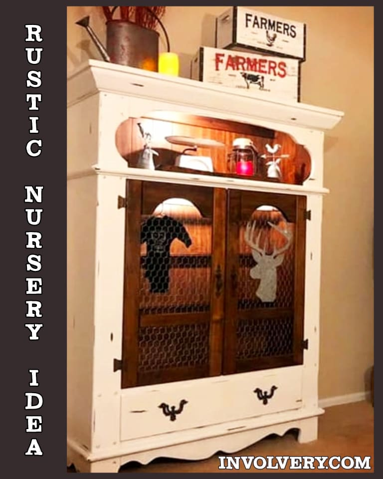 Rustic Farmhouse Nursery Dresser Ideas - DIY Baby Room Furniture From Old Dressers Without Drawers