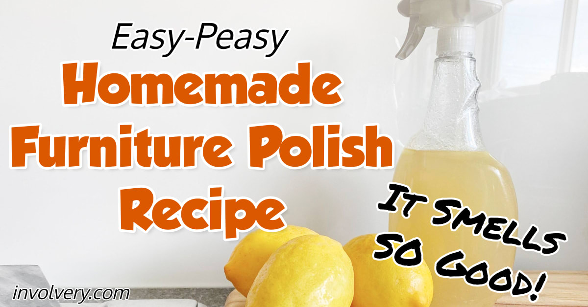 Homemade Furniture Polish Recipe - how to make homemade furniture polish with essential oils, apple cider vinegar and other cheap ingredients - best essential oil dusting spray with lemon oil, orange oil and other essential oils. Here's how to make do it yourself furniture polish at home