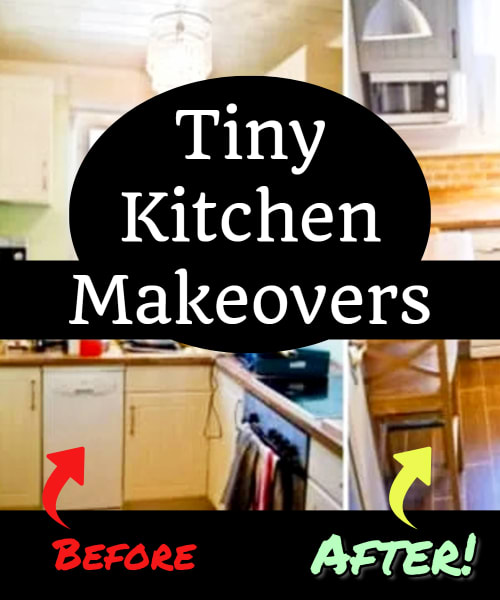 tiny kitchen makeovers-before and after small kitchen makeovers,renovation remodel ideas DIY on a budget